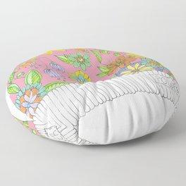 Pink Pussy Cat Hat Floor Pillow