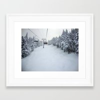 skiing Framed Art Prints featuring Skiing Vermont by BACK to THE ROOTS