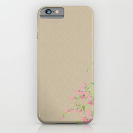 Japanese bush clover flowers iPhone Case