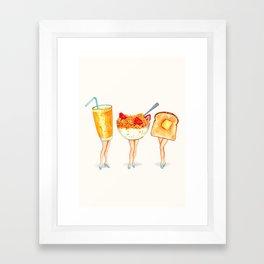 Breakfast Pin-Ups Framed Art Print