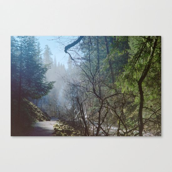 when i said, she got a little misty Canvas Print