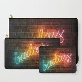 Badass Rainbow Neon Sign Carry-All Pouch