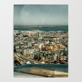 Lisbon sky view Poster
