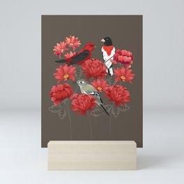 Birds and Roses Mini Art Print