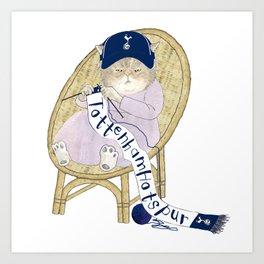 1023 Knitting Cat - Ugly Tottenham Fan Art Print