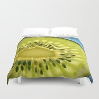 kiwi Duvet Covers featuring Kiwi by Oberleigh Images