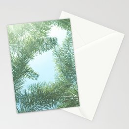 Nature photography tropical vibe vintage palm leaf II Stationery Cards