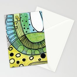 Yellow flowers in a strange place Stationery Cards