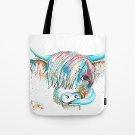 Highland Cattle full of colour Tote Bag