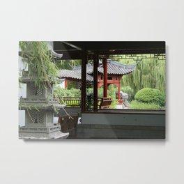 Chinese Gardens Metal Print