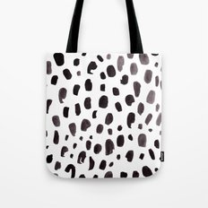 Dalmation Spots Painted Watercolor Pattern Tote Bag