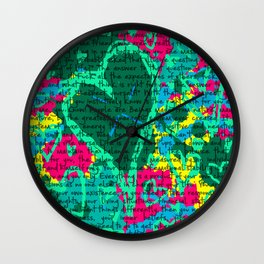 Life in text Wall Clock