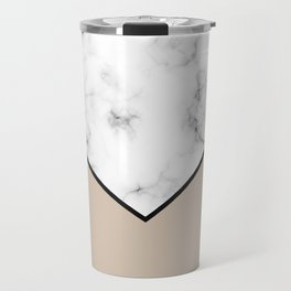 ABSTRACT BROWN MODERN MARBLE Travel Mug