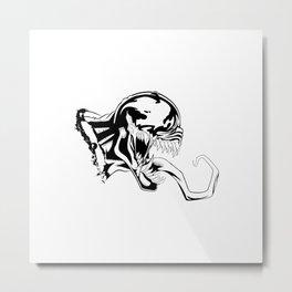 Venom BW Art Metal Print