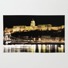 Budapest Chain Bridge And Castle Art Rug