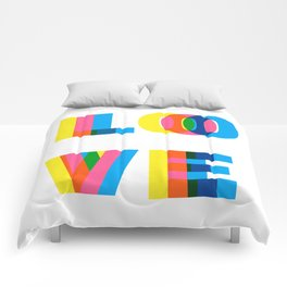 CMYK LOVE Comforters