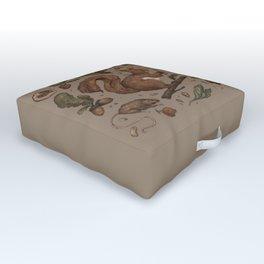 Red Squirrel Outdoor Floor Cushion