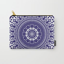 Mandala 006 Midnight Blue on White Background Carry-All Pouch
