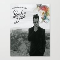 panic at the disco Canvas Prints featuring Panic! At The Disco Album Cover by marinasdiamonds