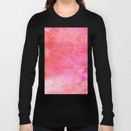 EVER SO WATERCOLOUR PINK RAINDROPS Long Sleeve T-shirt