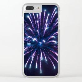Single Firework Clear iPhone Case