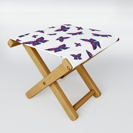 Fly With Pride: Bisexual Flag Butterfly Folding Stool