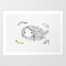 The Bird Lady Art Print