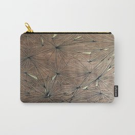 Stare Geometric Fractals on Wood Carry-All Pouch