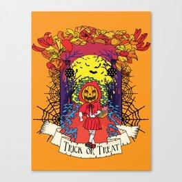 Jack o Red Riding Hood Canvas Print