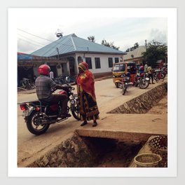 #277 The woman and the driver / Streets of Tanzania Art Print