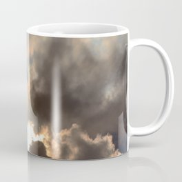 Sunset With Blue And Gold Cloudy Sky  Coffee Mug