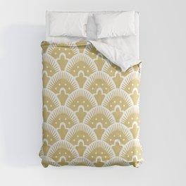Fan Pattern Gold 201 Comforters