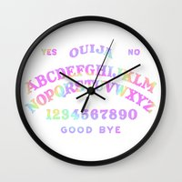 ouija Wall Clocks featuring Rainbow Ouija by Rotton Cotton Candy
