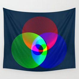 Red Green Blue Light Color Model Lines Wall Tapestry