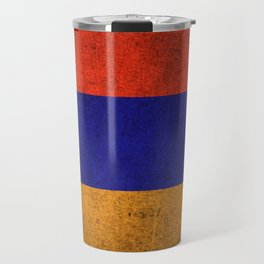 Old and Worn Distressed Vintage Flag of Armenia Travel Mug