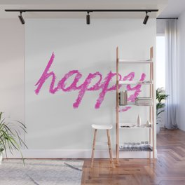 happy pink Wall Mural