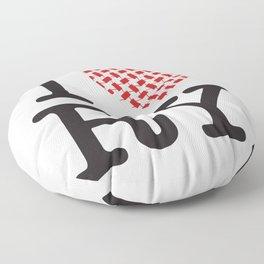 I heart RY(Riyadh) Floor Pillow