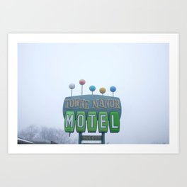 Towne Manor Motel Art Print