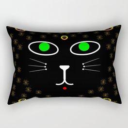 Dark Night with dark cats Rectangular Pillow