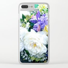 Mid-Summer's Flowers Clear iPhone Case