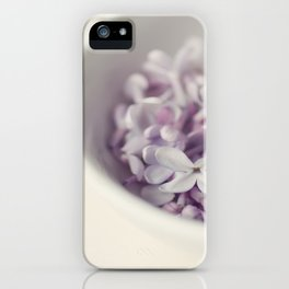 Bowl of Lilacs iPhone Case