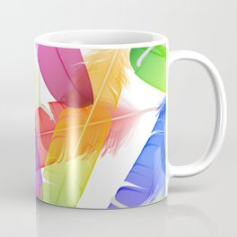 Colorful seamless feather vector pattern Coffee Mug