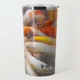 Koi Carp Food Frenzy 3 Travel Mug