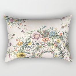 Circle of life- floral Rectangular Pillow