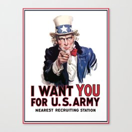 I Want You - Uncle Sam Canvas Print