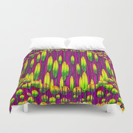 Tulips abstract on fire Duvet Cover