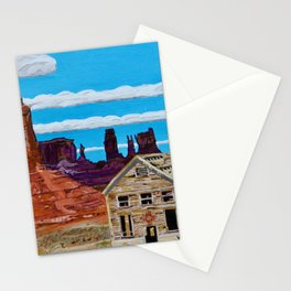 Old House In Monument Valley Stationery Cards