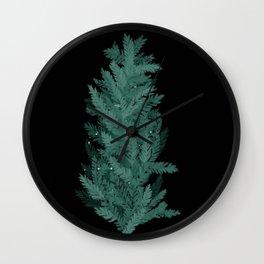 Winter pine bush Wall Clock
