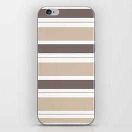 Caffeinated Tones Horizontal Striped iPhone Skin