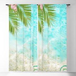 Tropical Beach Blackout Curtain